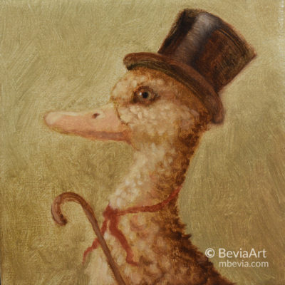 Gentleman Duck Oil Painting