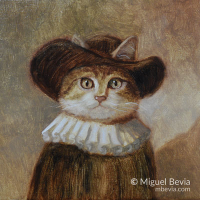 Cat Portrait Oil Painting
