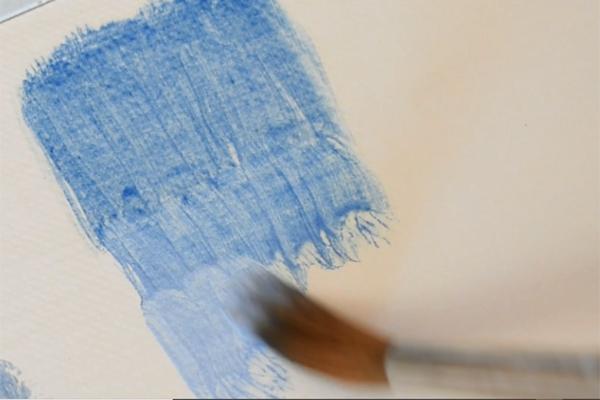 Azurite oil paint